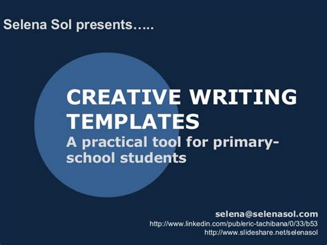Essay Topics For Primary School Students by Creative Writing Structure