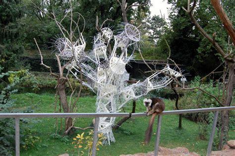 zoo designboom installation of bouroullecs vegetal chairs at prague zoo