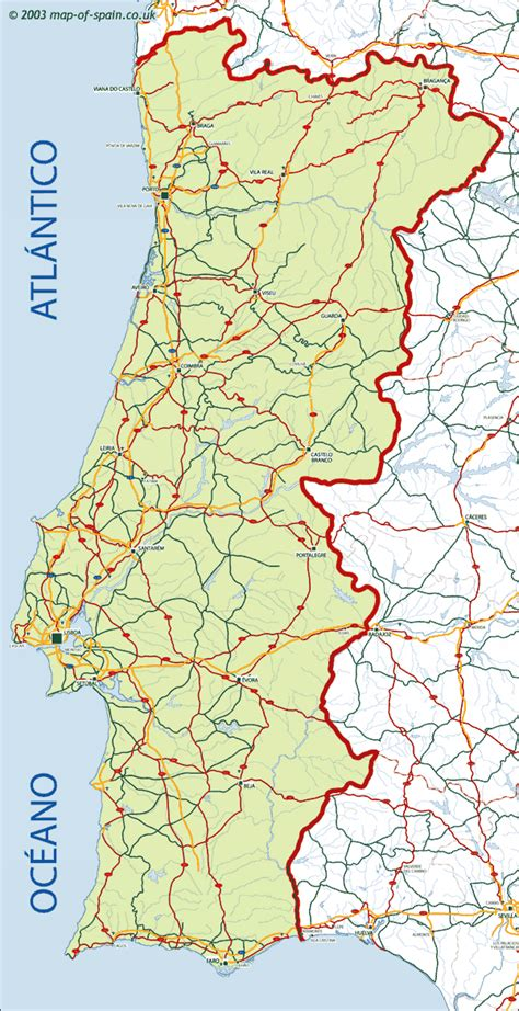 printable portugal road map portugal online maps geographical political road