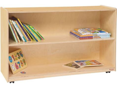 mobile wood preschool bookshelf wde 12600d preschool storage