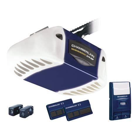 Garage Door Opener Vibration Chamberlain 3 4 Hp Chain Drive Garage Door Opener With