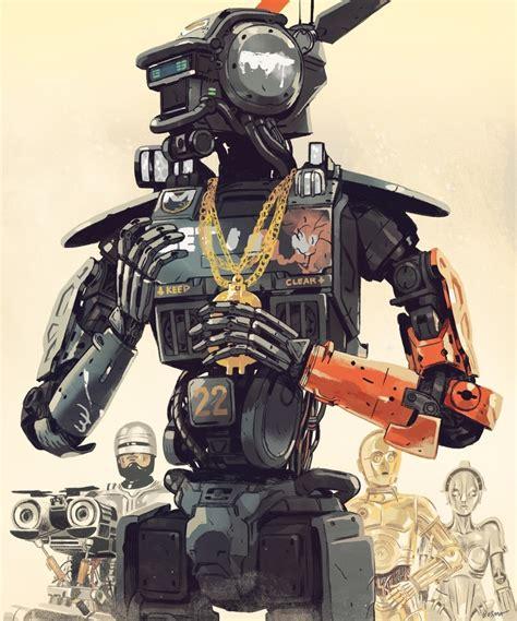 film robot gangster chappie an art print by sam bosma inprnt