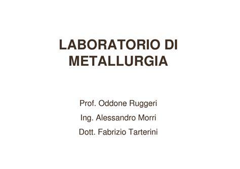 dispense unibo metallografia dispense