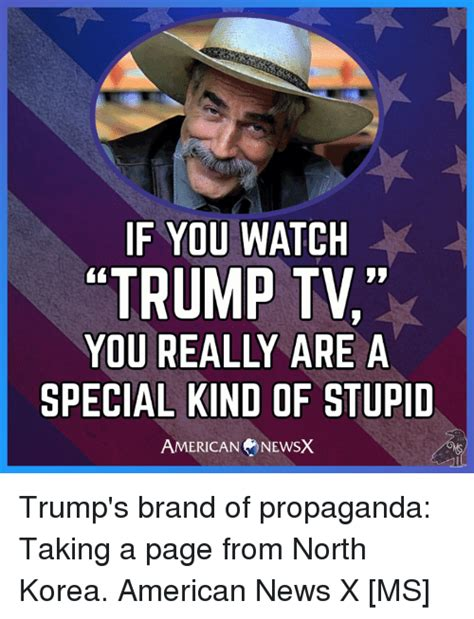 Memes Are Stupid - if you watch trump tv you really are a special kind of