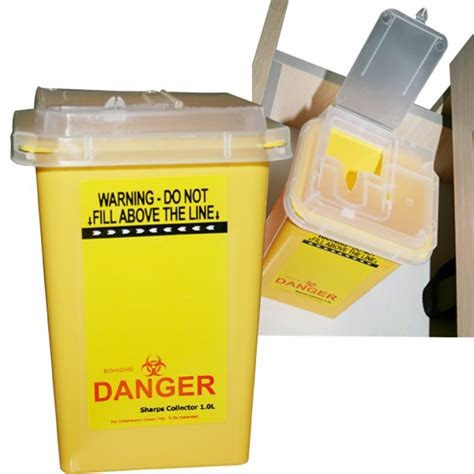 tattoo needle disposal uk 1pc yellow tattoo medical sharps container plastic
