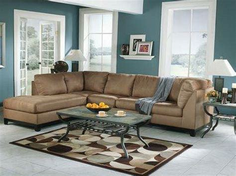 Living Room Color Schemes For Brown Furniture Miscellaneous Brown And Blue Living Room Interior