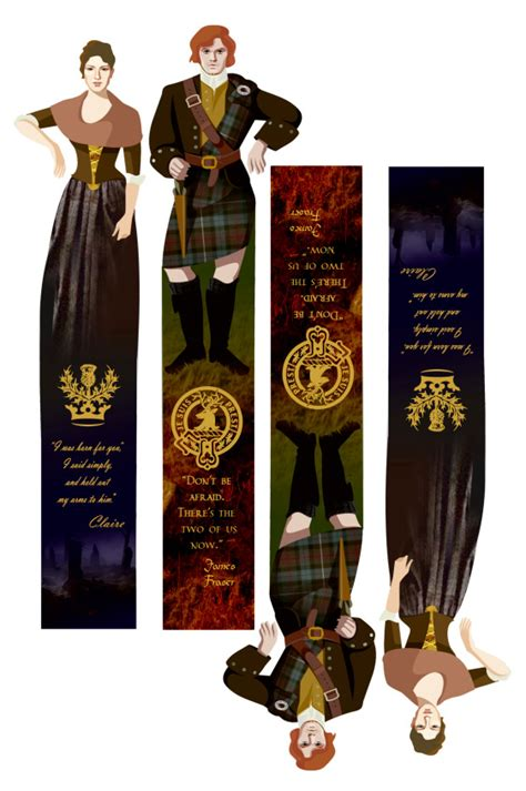printable outlander bookmarks jamie claire fraser quot outlander quot by d gabaldon bookmarks