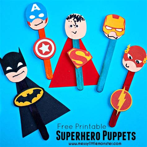 superhero puppet craft messy little monster