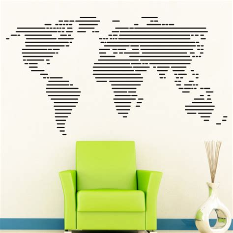 Large World Map Wall Stickers large world map wall decal best free home design