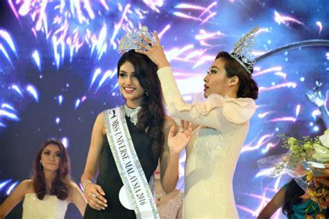 malaysia winner subang jaya lass crowned miss universe malaysia 2016