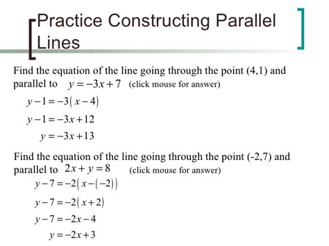 Parallel Perpendicular Or Neither Worksheet by 100 Finding Equations Of Parallel And Perpendicular