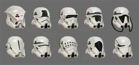 stormtrooper helmet design game stormtrooper s helmet designs hung bui on artstation at