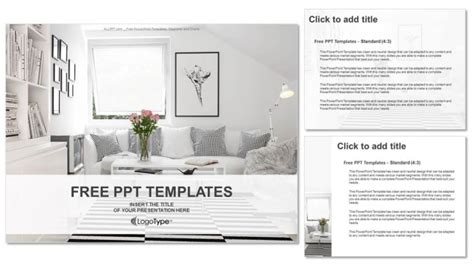 Interior Design Presentation Templates Interior Design Living Room Powerpoint Templates