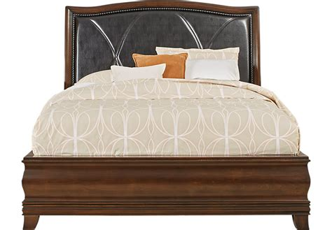 king size bed rooms to go alexi cherry 3 pc king bed with chocolate inset beds