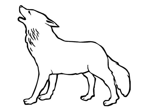 imagenes para colorear lobo dibujos infantiles para colorear lobos para desarrollar