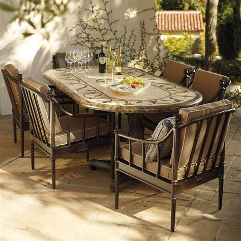 frontgate outdoor dining sorrento dining collection mediterranean patio by