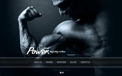 bodybuilding website template 41107