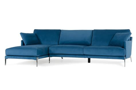 modern blue sofa david achen modern blue velvet fabric sectional sofa
