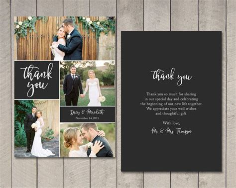 wedding thank you card template karabas me