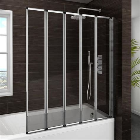 folding shower screens for baths haro folding bath screen 5 fold concertina at