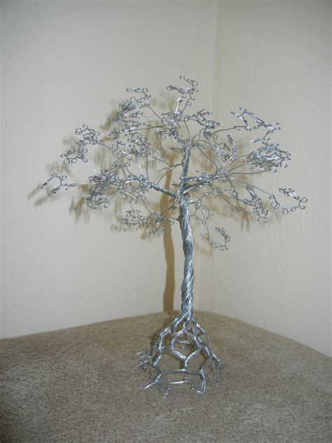 Handmade Wire Sculptures - handmade twisted metal wire tree sculpture gift anniversary