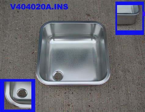 sink inserts stainless steel sink stainless steel insert 400 mm x 400 mm x 200 mm