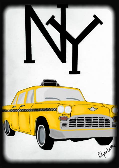 Taxi Ny Tout Le Monde Sait Dessiner Certains Mieux Que S Dessin Coloriage Taxi De New YorkL