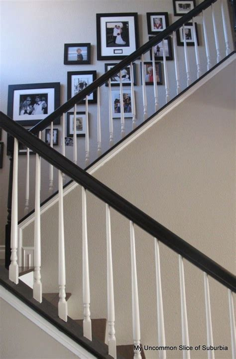 how to paint a stair banister painted stair rails oak to beautiful for the home
