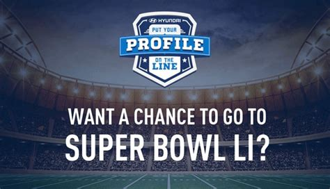 Football Hyundai Sweepstakes - hyundai nfl put your profile on the line sweepstakes sweepstakesbible