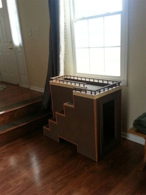 diy pet window seat window seat with storage for the dogs