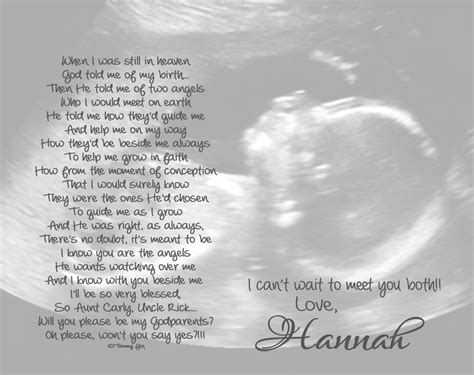 how big will my be will you be my godmother godfather godparents poem from unborn