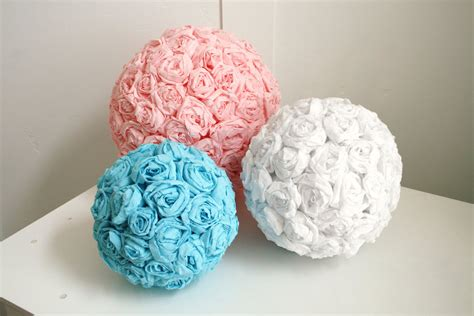 How To Make Large Tissue Paper Flower Balls - diy crepe paper flower pomanders the sweetest occasion
