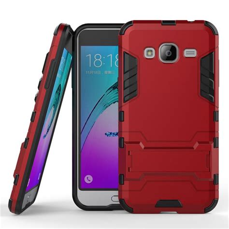 Samsung Galaxy J2 Iron Shockproof Armor Hybrid Casing Bumper Bagus hybrid rugged shockproof phone cover holster fr