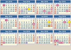 Calendar 2018 Singapore With Week Holidays 2018 Calendar Printable Free