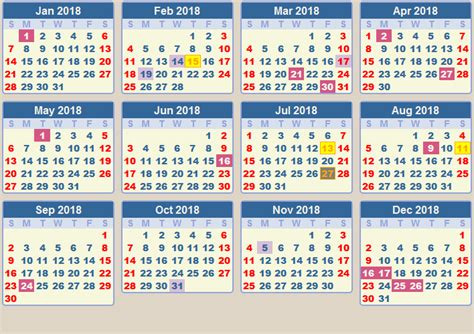 Calendar 2018 Showing Bank Holidays Calendar 2018 School Terms And Holidays South Africa