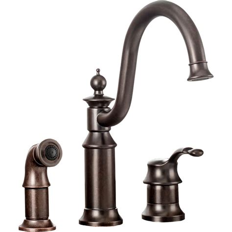moen rubbed bronze kitchen faucet moen s711orb waterhill one handle kitchen faucet in