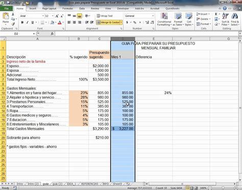 como hacer un presupuesto familiar guia para preparar presupuesto en excel 2010 youtube