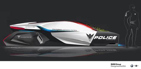 concept design usa designworksusa e patrol futuristic human drone pursuit
