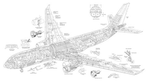 airbus a330 200 cutaway drawing airliner cutaway