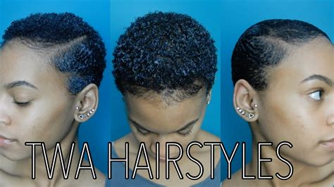 easy twa hairstyles 3 easy twa hairstyles youtube