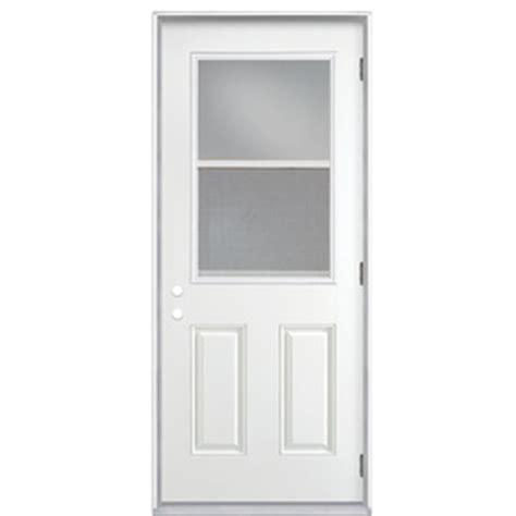 Exterior Door Open Out Shop Reliabilt Clear Prehung Outswing Fiberglass Entry Door Common 32 In X 80 In Actual 33 5