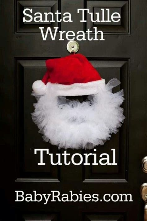 Santa wreath tulle wreath and wreaths on pinterest