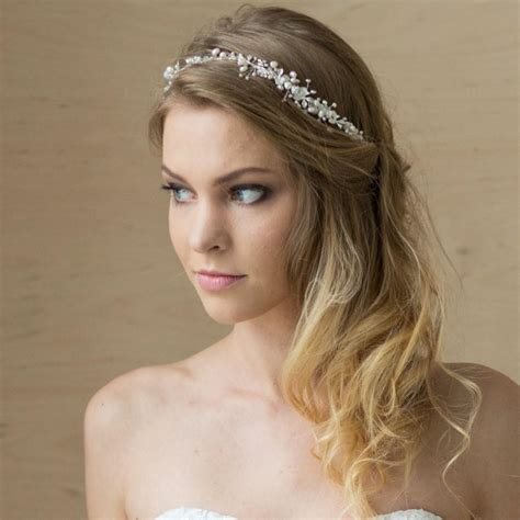 Wedding Hair With Headband by Bridal Hair Vine Bridal Headband Pearl Headband Wedding