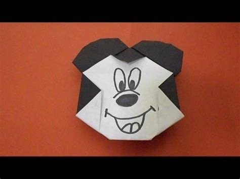 Origami Mickey Mouse - simple origami lesson 63 micky mouse