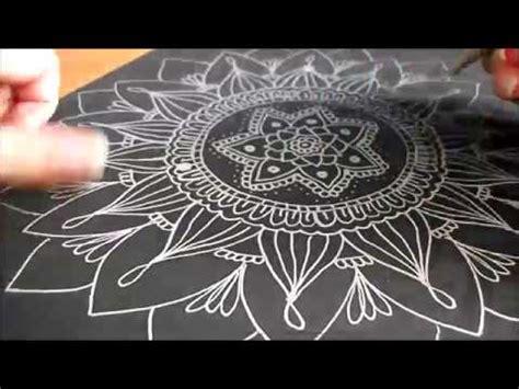 mandala plateado en cartulina negra youtube