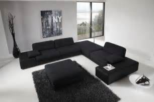 Black L Tables For Living Room Wonderful Modern Living Room Design Black Sofas Black Coffee Table Home Design And Home