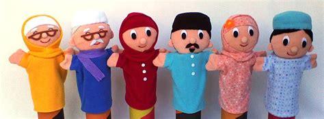 Boneka Tangan Family boneka muslim tsabita boneka puppet