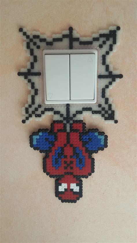 spiderman perler pattern spiderman light switch cover perler beads by groslip1255