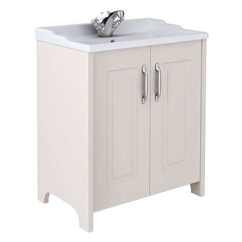 Modern Bathroom Suites Uk - devon cashmere 800mm traditional 2 door vanity unit online now