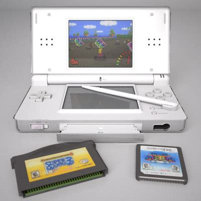 3ds capture card template nintendo ds lite 3d model